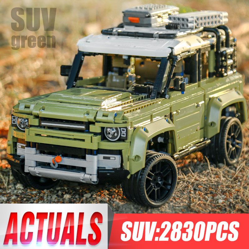 Technic Car Toy Compatible Legoinglys 42110 Land Rover Defender Set Assembly Car Model Building Blocks Bricks Christmas Gift Toy