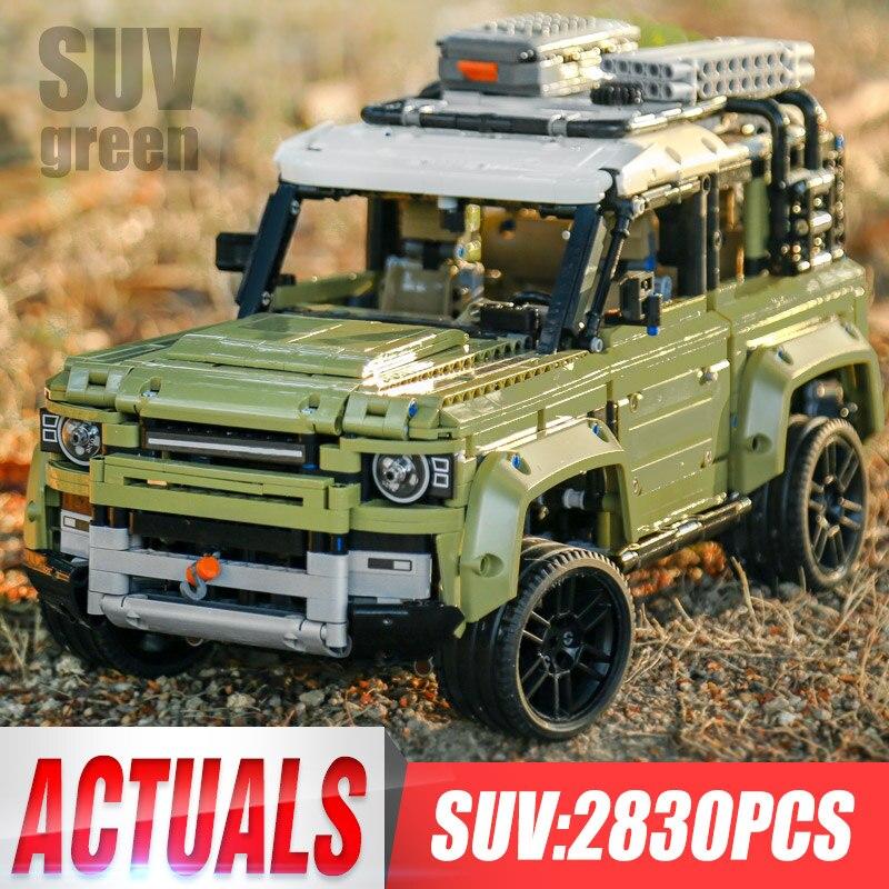 Technic Car Toy Compatible Legoinglys 42110 Land Rover Defender Set ensamblaje coche modelo bloques de construcción de juguete de regalo de Navidad GOROCK ensamblar bloques de construcción grandes de autobús montar ladrillos clásicos juguetes de bricolaje regalo de bebé Compatible con aviones LegoINGlys duplie