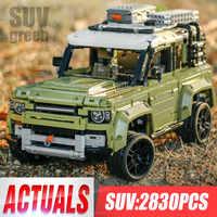 Technic samochodzik kompatybilny 42110 land rover defender zestaw montaż samochodów Model klocki klocki Christmas Gift Toy