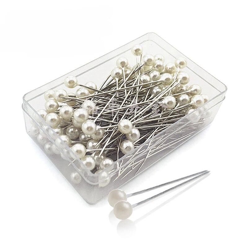 100 sztuk/pudło 36mm okrągła głowa perły krawiectwo szpilki wesela stanik kwiaciarnie szpilka do szycia mieszane kolorowe akcesoria GYH