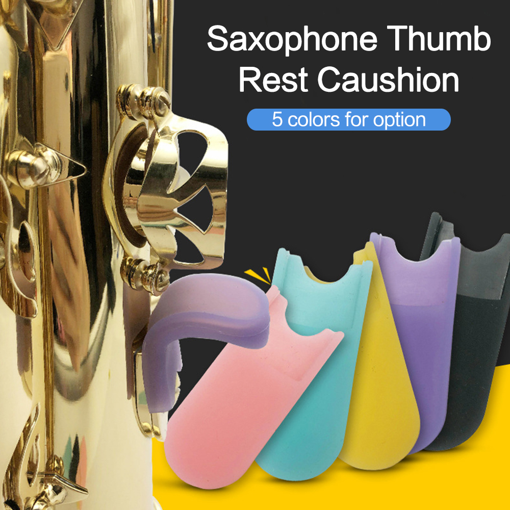 Saxophone Thumb Rest Cushion Silicone Gel Pad Cover Sax Accessories for Soprano/ Alto/ Tenor Saxophones