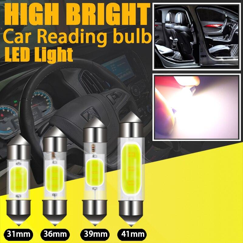 1 шт. автомобиль C10W C5W чтении УДАРА светодиодный сигнальный светильник гирлянда 31 мм 36 мм/39 мм/41 42 мм белый, в багажнике лампы номерного знака ...