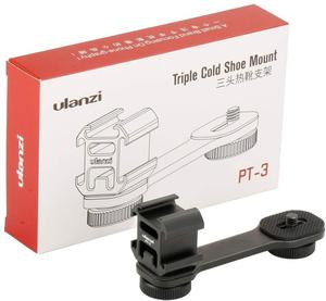 Image 5 - Ulanzi PT 3 Gimbal Accessories Triple Cold Shoe Mounts Plate Microphone Led Video Light Extension Bracket Microphone Stand