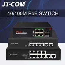 48V Netwerk POE Switch Ethernet met 10/100 / 1000Mbps 5/6/8/10 poorten IEEE 802.3af / at Geschikt voor IP camera / Draadloos AP / CCTV camerasysteem met 100W stroomadapter