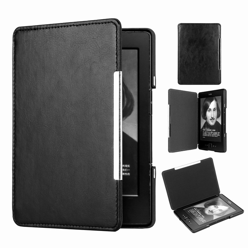 Ultra Slim PU Leather Lichi Style Cover For Amazon Kindle Basic 4/5 E-book Reader Folio Smart Magnetic Case For Kindle 4 5 Case