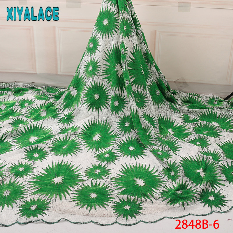 Nigerian Double Net Lace Fabrics Aso Ebi Fabric Africa Lace Fabric High Quality Embroidery Laces For Women KS2848B-6