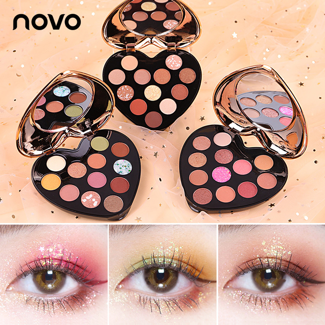 NOVO 12 Color Beauty Glazed Professional Soft Glam Matte Eyeshadow Glitter Eye Shadow Palette Long Lasting Makeup Eyeshadow 1