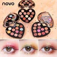 NOVO 12 Farbe Schönheit Glasierte Professional Weiche Glam Matte Lidschatten Glitter Lidschatten Palette Dauerhafte Make-Up Lidschatten