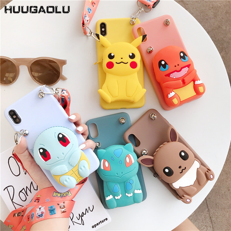 Zipper Wallet <font><b>Silicone</b></font> Cartoon <font><b>Case</b></font> For <font><b>Huawei</b></font> Y7 Y9 <font><b>Y6</b></font> Y5 Prime Pro 2019 P Smart Z Plus <font><b>2018</b></font> Cute Phone Cover Funda Coque Etui image