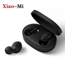 Instock Xiao mi Redmi Airdots Wireless earphone Voice control Bluetooth 5.0 Noise reduction Tap Control For Andriod Phone(China)