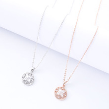 Ladies Flower Necklace National Bohemian Personality Design Charm Pendant Gift Dinner Clothing Accessories