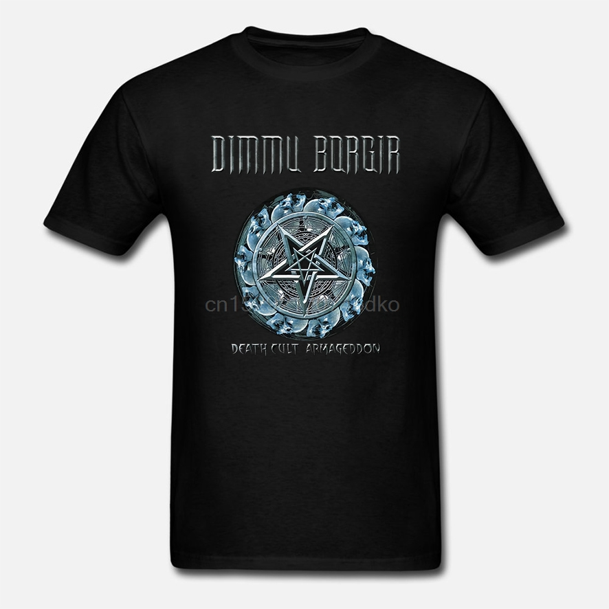 Short Sleeves Cotton Free Shipping Dimmu Borgir Death Cult Armageddon T-shirt 100% Cotton Size S M L Xl 2xl 3xl