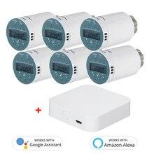 SEA801-ZIGBEE Smart Heizung Heizkörper Thermostat Kompatibel mit EIN-mazon Alexa Google Home Programmierbare Thermostat Heizkörper