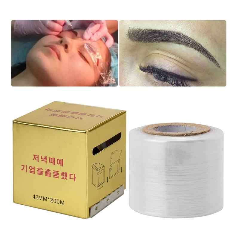 Tattoo Klar Wrap Decken Konservierungs Film Microblading Tattoo Film Für Permanent Make-Up Tattoo Augenbrauen Liefert 40MM * 200MM