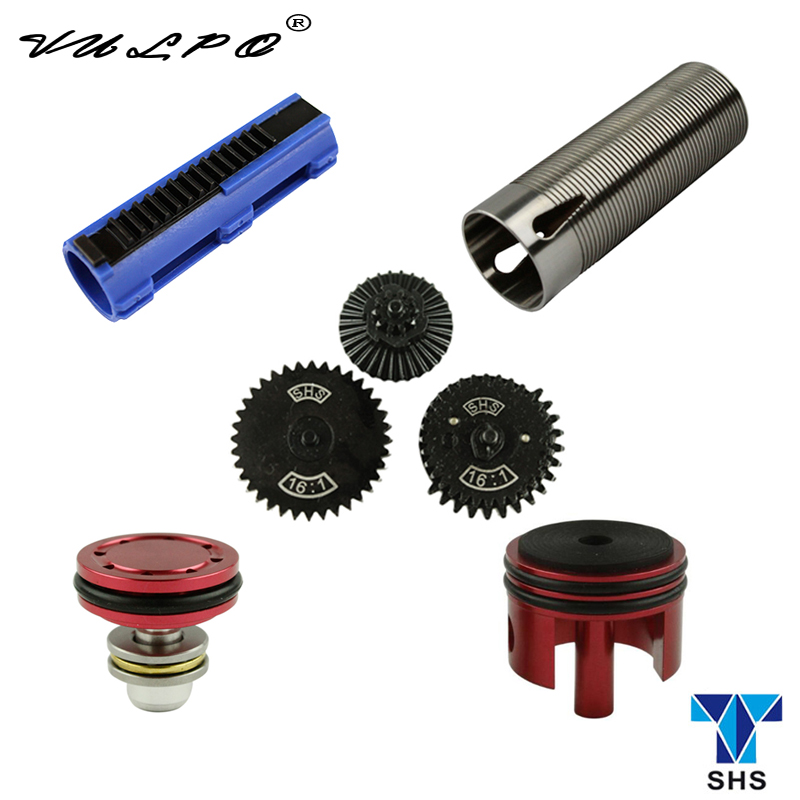 VULPO SHS high speed gear/piston/piston head/cylinder/cylinder head set parts for gearbox V.2 /V.3 AEG airsoft|Hunting Gun Accessories| |  - title=