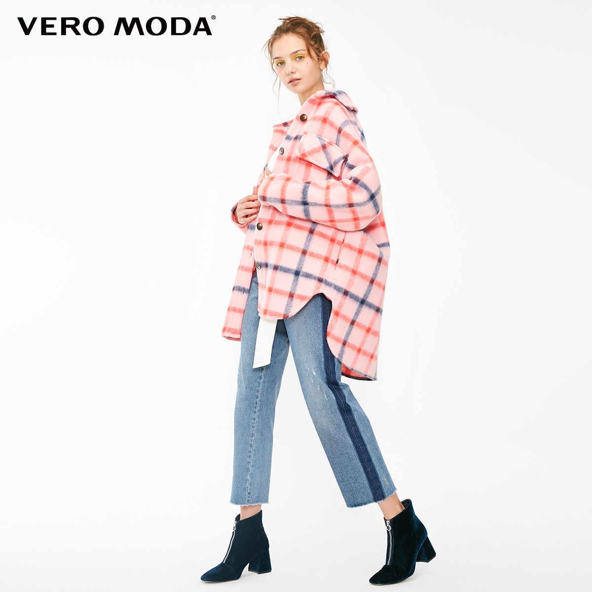 Vero Moda Женская клетчатая куртка свободного кроя с карманами | 318409503