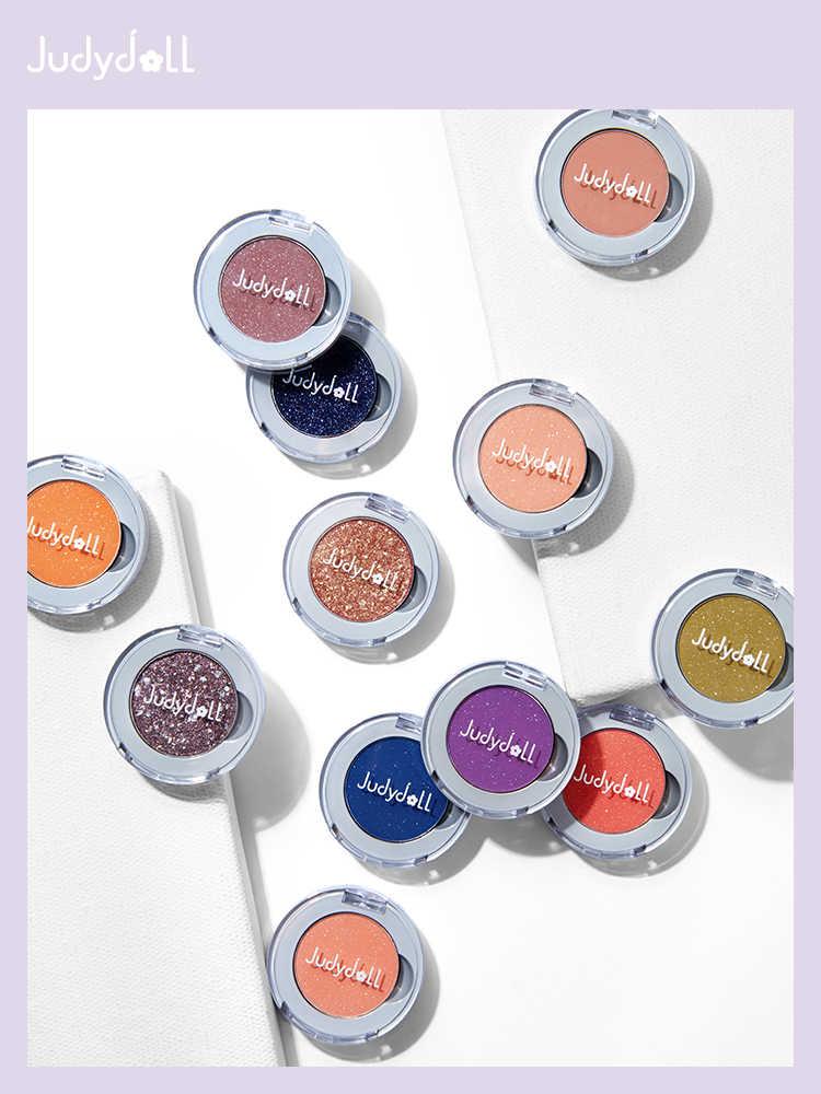 Judydollシングルカラーアイシャドウマットグリッターきらめき光アイシャドウ顔料美容施釉化粧品