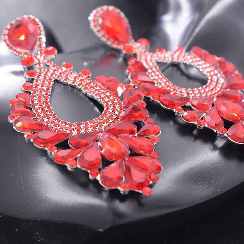 Red earrings for women bride (2)