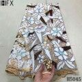 HFX 2021 новейшая африканская кружевная ткань с вышивкой, нигерийская кружевная ткань с блестками, Высококачественная французская Тюлевая кру...