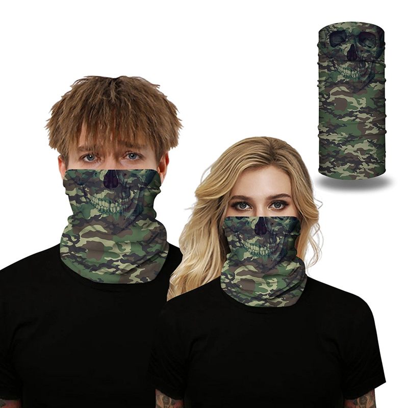 Outdoor Bandanas Camouflage Printed Face Mask Multi Functional Sweatband Hairband Head Scarf Hiking Biking Fishing Face Covers