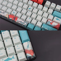 LEORY Mechanical Keycap PBT Full Size 104 Key Sublimation Game OEM Mechanical Keyboard Keycap  (Non-Keyboard) For Desktop PC