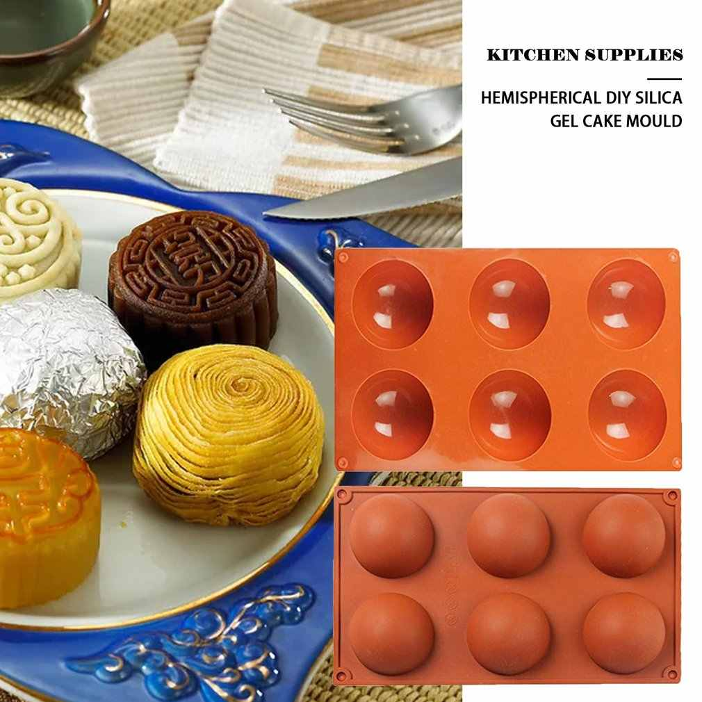2020 Ball Kugel Silikon Form Für Kuchen Gebäck Backen Schokolade Candy Fondant Backformen Runde Form Dessert Mould DIY Dekorieren