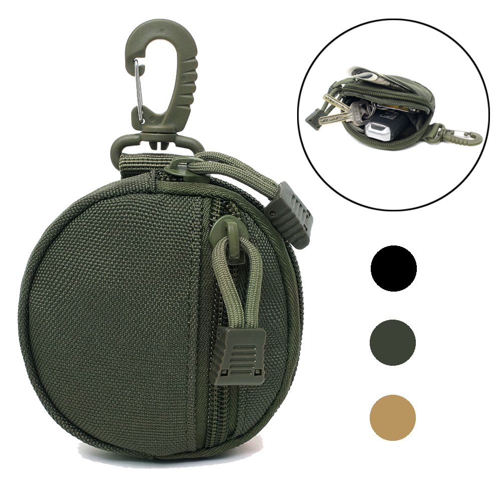 1000D Hunting EDC Pack Tactical Molle Utility Functional Bag Practical Coin Purse Military Key Earphone Pouch Camping Hiking