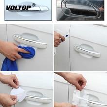4 pçs/lote Lidar Com Película de Proteção Etiqueta Do Carro Exterior Transparente Adesivo Automotivo Auto Acessórios Do Carro Styling