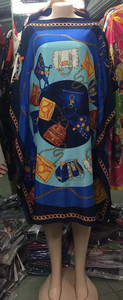 Image 5 - Dress Length:100cm Bust:140cm  African Dashiki New Fashion Design short dress oversized Plus Famous Brand Loose For Lady/women