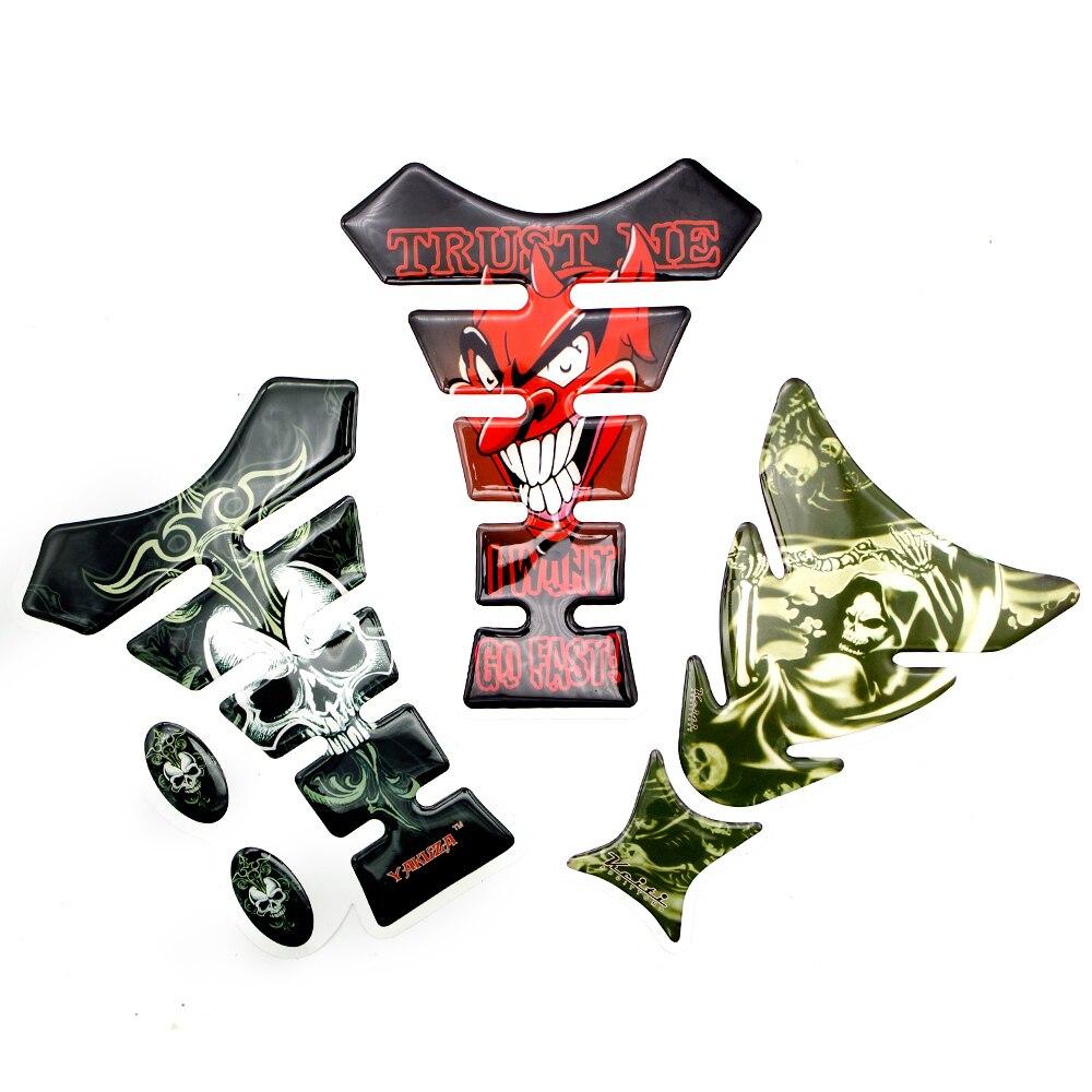 FOR HONDA Tact Today Transalp 650 Trx 450 Varadero 125 Xl1000 Xl1000v Vario Vf750 Vfr750 3D Car Motorcycle Tank Pad Sticker