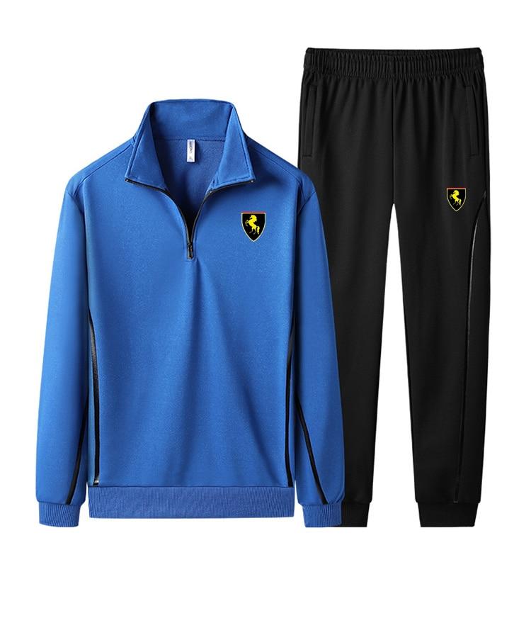 Men Gym TrackSuit Jogging Train Bottom Sport T Shirt Suit Set Trousers Pants