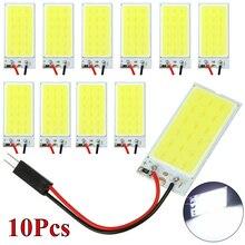 цена на 10pcs W5W 18 LED T10 C5W Car Led Vehicle Panel Lamp Auto Interior Reading Lamp Bulb Light Dome Festoon light 6500K White 12V
