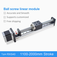 1100 2000mm C7 DC Linear Actuator Motor Ballscrew Motion Stage Actuator Guide Rail For 3D Printer Robotic Arm Kit