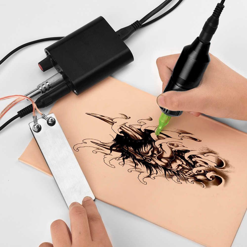 Профессиональный полный набор для начинающих татуировок с насадка для татуировочной машины смешанные иглы татуировки Электропитание покрытие рукоятки машинки для татуажа