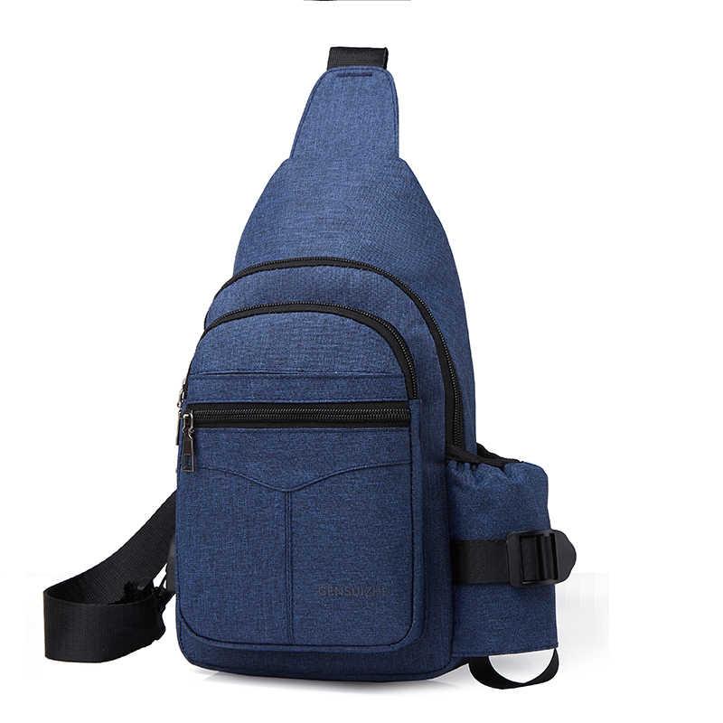 Hifuar wielofunkcyjna torba Crossbody mężczyźni Anti-theft torby listonoszki mężczyzna wodoodporna krótki podróży torba w klatce piersiowej spakować
