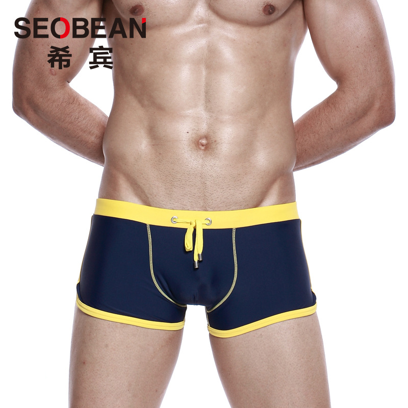 SEOBEAN MEN'S Swimming Trunks Low-Rise Swimming Trunks Quick-Dry Large Size Loose-Fit Shorts Sexy Beach Shorts Fashion