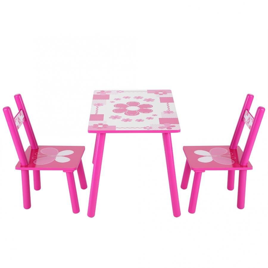 Детский деревянный стол и стул, набор для детей, для изучения живописи, для дома, школы, деревянный стол и Набор стульев