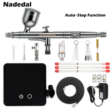 Airbrush Compressor Spray-Gun Model Cake-Painting Nail-Art Nasedal 7cc for Car Auto-Stop-Function