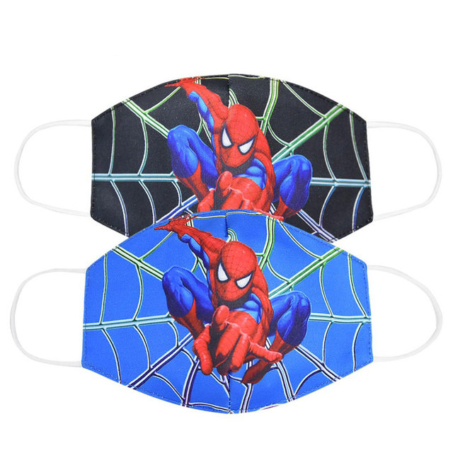 Disney Frozen Marvel Spiderman Children's Face Maks Marvel Frozen sponge Anti-Dust Protective Maks for boys girls toys 3-12Y 3
