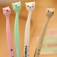 4 قطعة/الوحدة Kawaii القط هريرة أقدام الأسود هلام الحبر الأسطوانة الكرة نقطة القلم اللوازم المدرسية لون عشوائي بالجملة