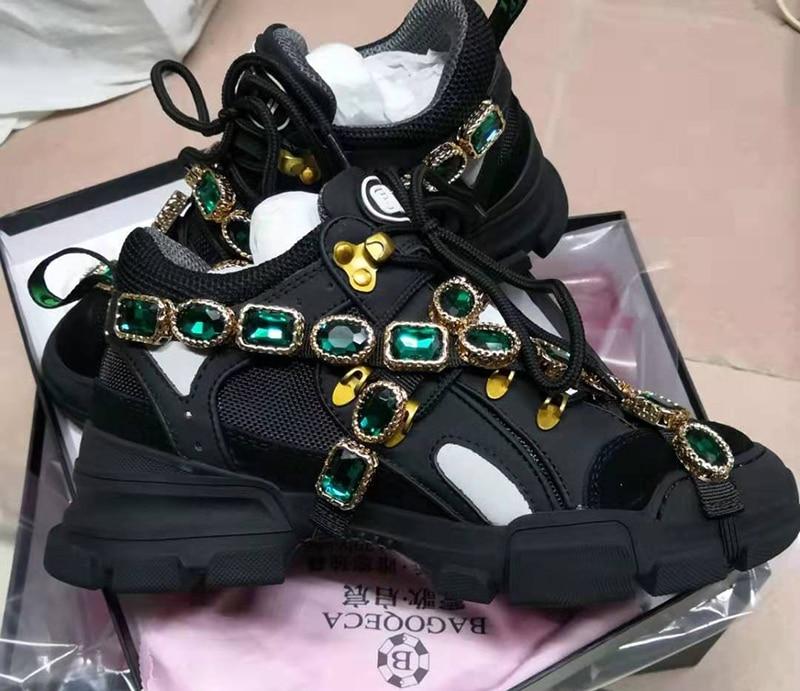china verde italiano tênis de cristal formadores