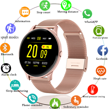 LIGE 2020 nowy inteligentny zegarek kobiety mężczyźni tętno ciśnienie krwi informacje przypomnij Sport wielofunkcyjny wodoodporny Smartwatch + Box tanie i dobre opinie CN (pochodzenie) Z systemem Android Wear Na nadgarstek Zgodna ze wszystkimi 128 MB Krokomierz Rejestrator aktywności fizycznej