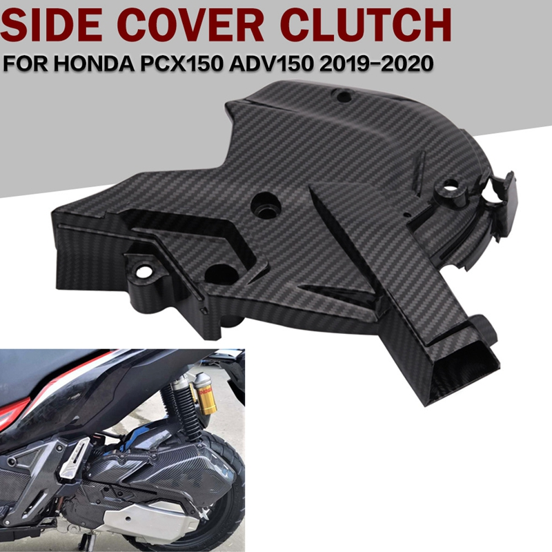 for HONDA ADV150 PCX150 Carbon Fiber Pattern Left Box Front Engine Cover Applicable Year 2019+