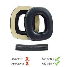 Almofada de substituição da orelha cobre almofadas de orelha para logitech astro a50 gen3 gen4 headbands headband x6hb