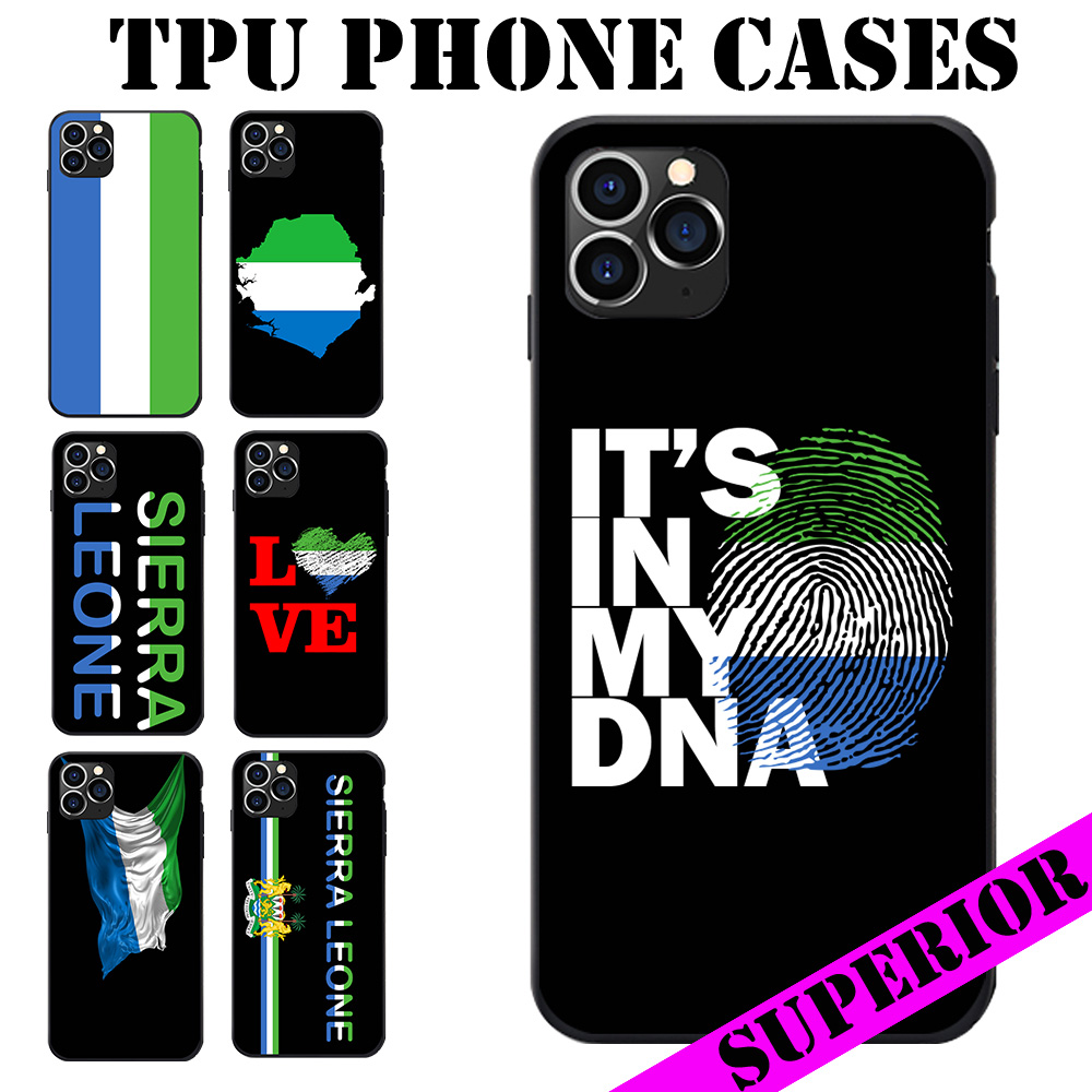 For Huawei P8 9 10 20 30 Mate Plus Pro Lite X Sierra Leone Flag Coat Of Arms Map Love Heart Soft TPU Phone Cases Cover Logo