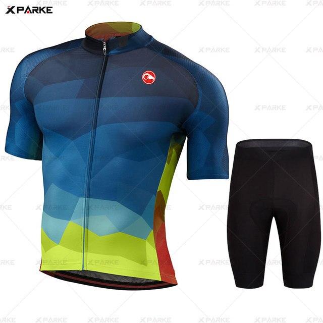 Conjunto camisa da bicicleta de estrada roupas ciclismo verão mtb roupas da equipe dos homens manga curta uniforme triathlon skinsuit ropa hombre 2020 2