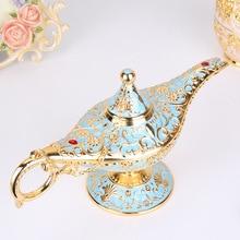 Quemadores de incienso para decoración del hogar Aladdin, lámparas mágicas de cuento de hadas de estilo antiguo, lámpara del genio, Juguetes Retro Vintage para regalo de niños
