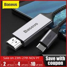 Baseus kabel Usb C HDMI 4K 60Hz typ c do przedłużacza HDMI kabel do Huawei P30 P40 Pro Samsung S20 S10 S9 OnePlus 7