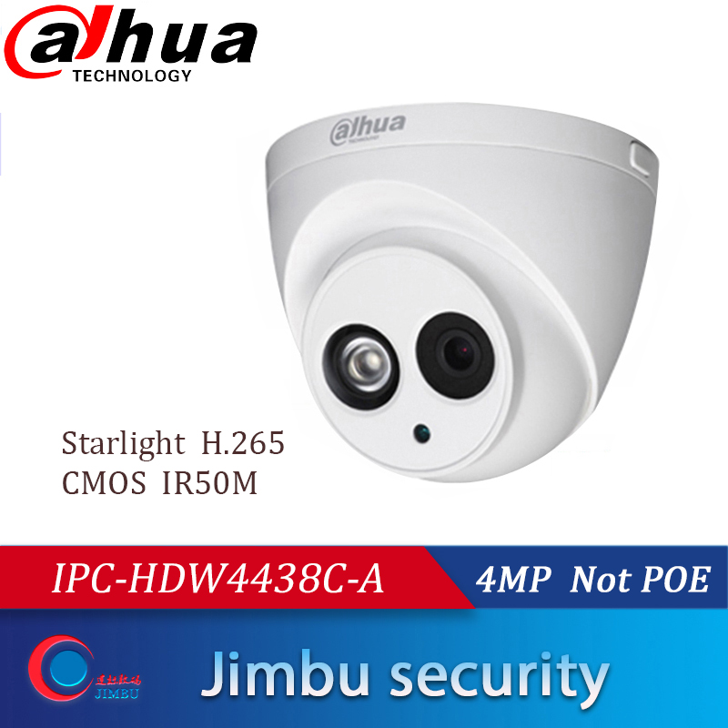 Dahua 4MP Starlight Dome Camera IPC-HDW4438C-A IP IR50M H.265 Full HD Built-in-MIC CCTV Network Security Camera Not POE COMS