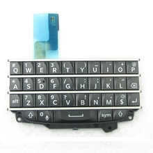 цена на 5pcs/lot Qwerty Keypad Keyboard With Flex Cable For BlackBerry Q10 White/Black Color Repair Parts